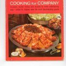 Good Housekeeping's Cooking For Company 9 Cookbook Vintage