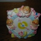 Clock With Babies Birdie Horse Carriage Bear  Planter Napco 9729  Vintage Item