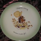 Holly Hobbie Collectors Edition Plate Happiness Is Having Someone To Care For Vintage 1972