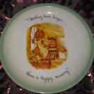 Holly Hobbie Collectors Edition Plate Nothing Lasts Longer Than A Happy Memory Vintage 1972