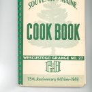 Souvenir Of Maine Cook Book Grange No. 27 Cookbook Regional Maine