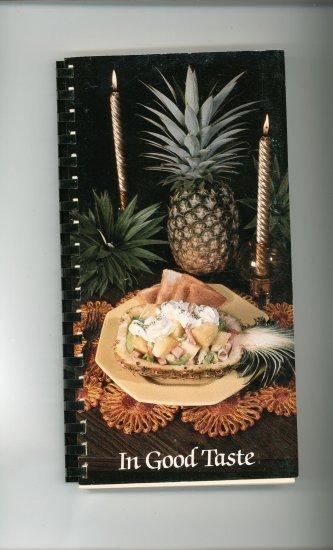 In Good Taste Cookbook by Elms College