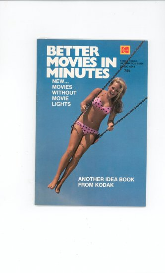 Kodak Better Movies In Minutes Photo Book AD 4 Vintage