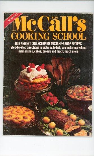 McCalls Cooking School Number 3  Magazine Vintage