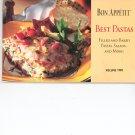 Bon Appetit Best Pastas Volume Two Cookbook