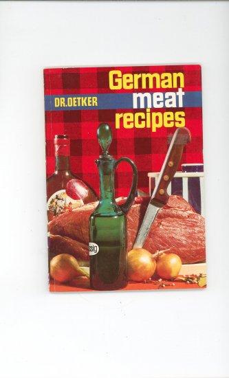 German Meat Recipes Cookbook by Dr. Oetker Vintage First Edition