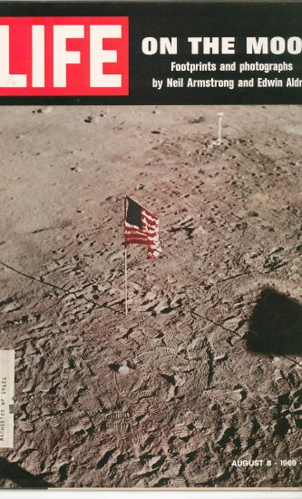 Life Magazine On The Moon Neil Armstrong Edwin Aldrin August 1969 Vintage