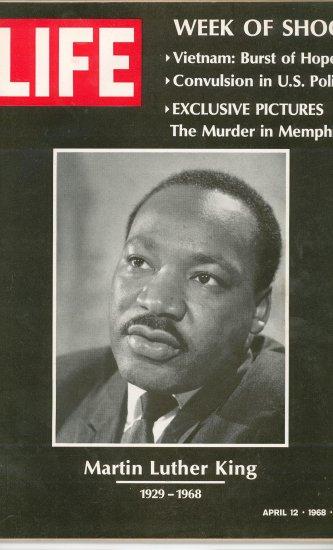 Life Magazine Martin Luther King Vietnam U.S. Politics  April 12 1968 Vintage