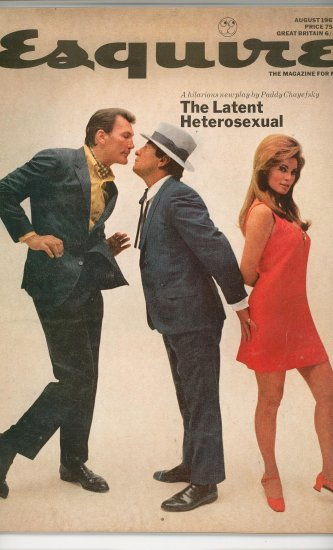 Esquire Magazine August 1967 Vintage The Latent Heterosexual