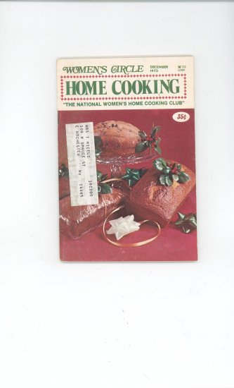 Womens Circle Home Cooking Cookbook Vintage December 1973