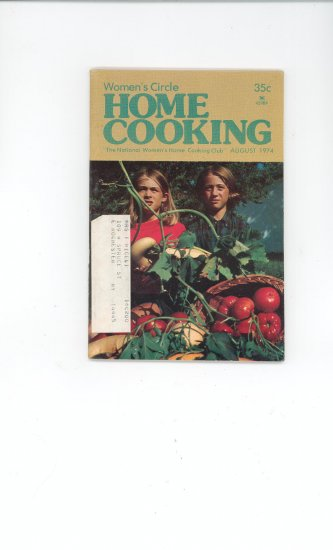 Womens Circle Home Cooking Cookbook Vintage August  1974