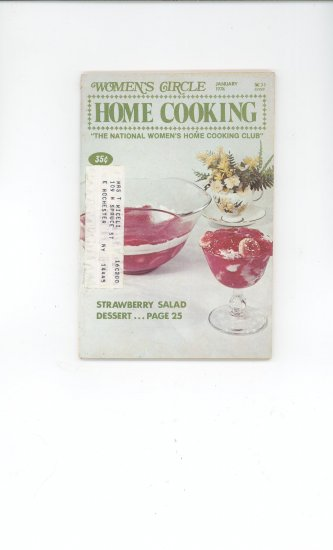 Womens Circle Home Cooking Cookbook Vintage January  1974