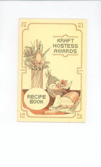 Kraft Hostess Awards Recipe Book Cookbook Vintage 1975?