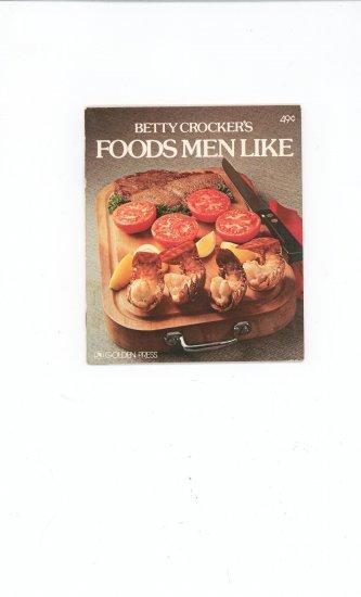 Betty Crockers Foods Men Like Cookbook Vintage 0307095231
