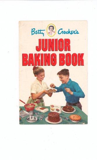Betty Crockers Junior Baking Book Cookbook Vintage