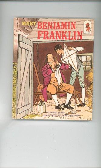 Meet Benjamin Franklin by Maggi Scarf Childrens Book Vintage