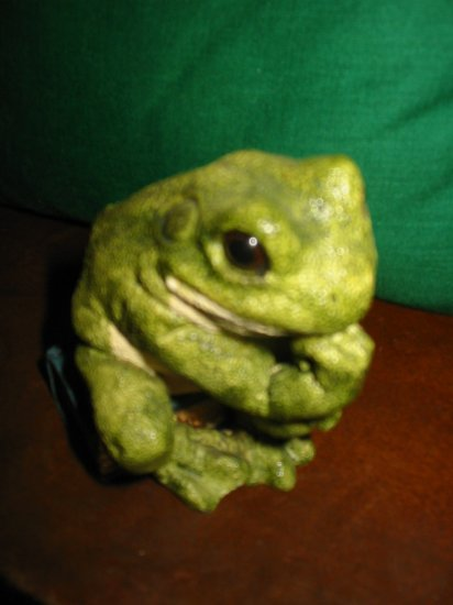 Frog Sitting On A Book by Stone Critters Bullfrog Thinker SC758 How Cute