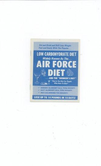 Air Force Diet & Drinkers Diet Manual / Book Vintage