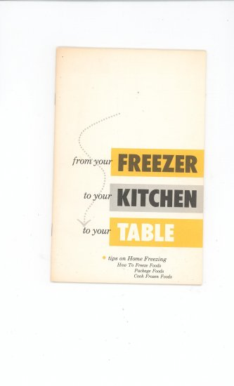 From Your Freezer To Your Kitchen Cookbook Manual Guide Vintage American Motors