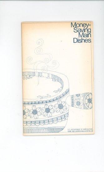Money Saving Main Dishes Cookbook by USDA Vintage