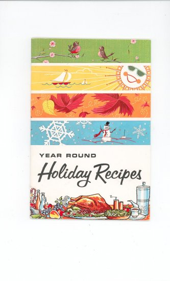 Year Round Holiday Recipes Cookbook by Gas Equipment Manufacturers Group Vintage
