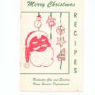 Merry Christmas Recipes Cookbook Guide by Rochester Gas & Electric Company Regional NY