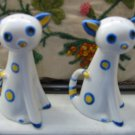 Deco Cat Salt And Pepper Shakers Vintage Adorable