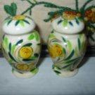 Floral Salt And Pepper Shakers Vintage