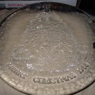 Pilgrim Glass Merry Christmas 1985 Plate With Label