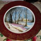 Christmas Greetings Collector Plate Durability Weatherby England Falcon Ware 3-78 Church