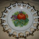 Ornate Plate With Fruit Marked Napco S1491 Hand Painted