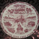 Maine The Pine Tree State Vacation Land Souvenir Collector Plate  by Vernon Kilns Vintage
