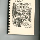 Out Of Vermont Kitchens St Pauls Cathedral Cookbook  Regional Community Church Vermont  Vintage