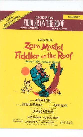 Zero Mostel Fiddler On The Roof Clarinet 0897246756