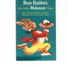 Brer Rabbits New Orleans Molasses Recipes Cookbook Vintage