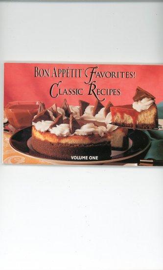 Bon Appetit Favorites Classic Recipes Volume One Cookbook