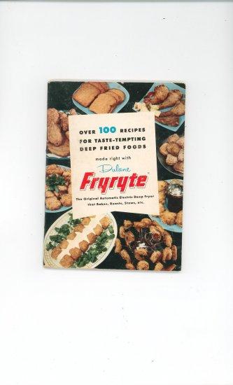 Dulane Fryryte Cookbook & Manual Vintage