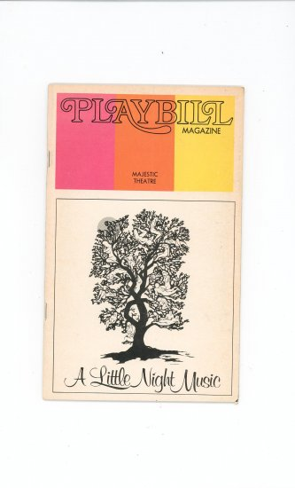 Playbill Magazine A Little Night Music Majestic Theatre Vintage