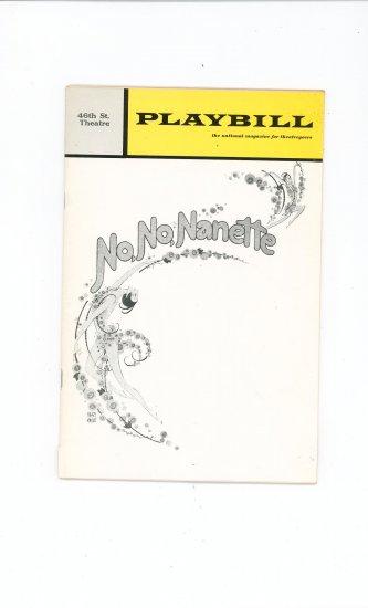 Playbill Magazine No No Nanette 46th St. Theatre Vintage