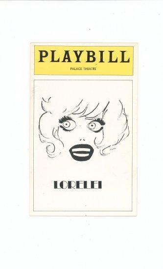 Playbill Magazine Lorelei Palace Theatre Vintage