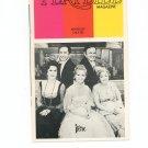Playbill Magazine Irene Minskoff Theatre Vintage