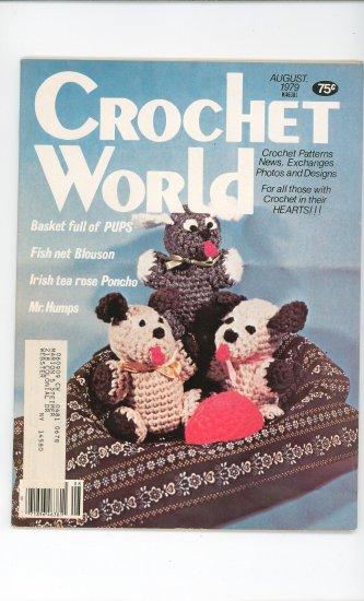 Crochet World Magazine August 1979 Vintage