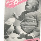Woolies For Babies Crochet Chadwicks Red Heart Wools Book # 224 Vintage Spool Cotton Co.