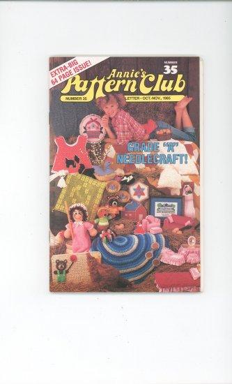 Annies Pattern Club Magazine Number 35 Oct. Nov. 1985