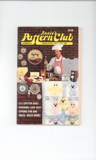 Annies Pattern Club Magazine Number 45 June July 1987