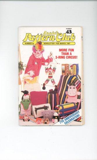 Annies Pattern Club Magazine Number 43 Feb. March 1987