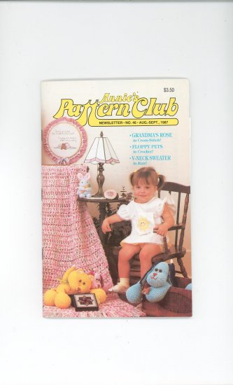 Annies Pattern Club Magazine Number 46 Aug. Sept. 1987