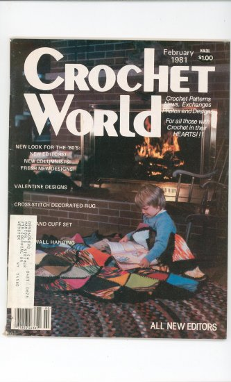 Crochet World Magazine February 1981 Vintage