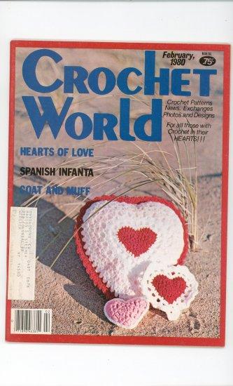 Crochet World Magazine February 1980 Vintage