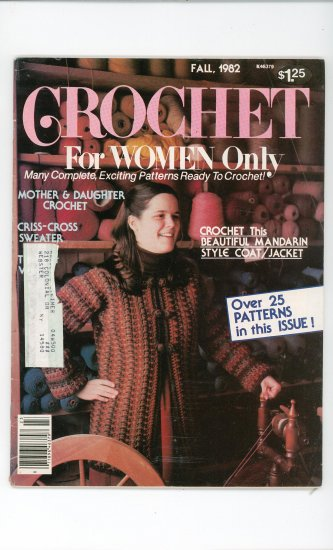 Crochet For Women Only Magazine Fall 1982 Vintage